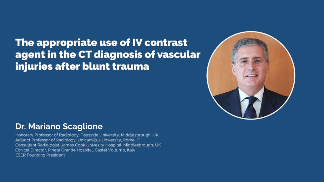 The appropriate use of IV contrast agent in the CT diagnosis of vascular injuries after blunt trauma