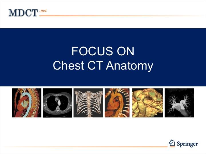 Chest CT Anatomy - MDCT.net